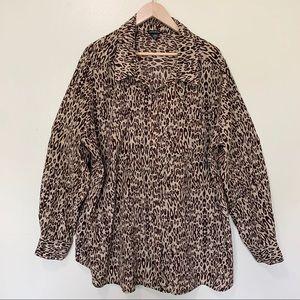 George leopard plus size top, size 3xl